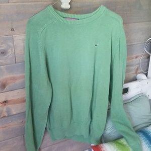 Vineyard vines sweater in mint green.